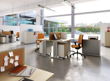 meble biurowe biurko na stelażu metalowym