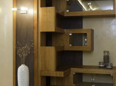 półki drewniane